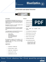 BlueOptics BO31J136S4D 10GBASE-LRM XFP Transceiver 1310nm 220M Multimode LC Duplex 10 Gigabit