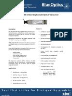 BlueOptics BO67JTN680D 10GBASE-DWDM XFP Transceiver Tuneable C-band 80 Km Singlemode LC-Duplex 10 Gigabit