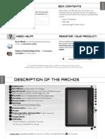 Archos 70d EReader PN110170 Book
