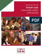 Stony Brook University NYSUNY 2020 Challenge Grant Application