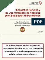 765.+La+Matriz+Energetica+Peruana+y+las+Oportunidades+de+Negocios+en+el+Sub+Sector+Hidrocarburos+(Ing.+Gustavo+Navarro)+Jun