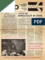 1974 11 07 D Pró-UNEP Nº 1 Democratizacao Do Ensino