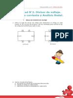 Problemas de Divisor de Voltaje Divisor de Corrientey Analisis Nodal
