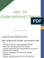 Topic 14 - Organizational Change