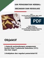 K1 Perkembangan pengobatan herbal (Prof. Dr. dr. MT. Kamaluddin, Sp.FK).ppt