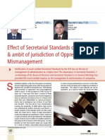 14 Effect of Secretarial Standards on the Scope & Ambit of Jurisdiction of Oppression and Mismanagement
