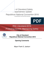 City of Cleveland RNC Safety Preparedness Plan