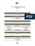 Programa VI Coloquio de Estudiantes de Filosofía Analítica - Alternativo