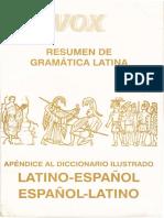 Vox - Resumen de Gramatica Latina