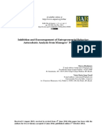 2014 - Inhibition and Encouragement of Entrepreneurial Behavior - Antecedents Analysis From Managers' Perspectives