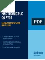 Medtronic Earnings Presentation FY16Q4 FINAL