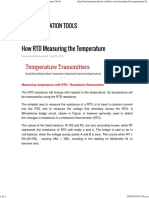 How RTD Measuring the Temperature