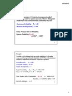 Reliability & Probability
