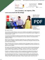 17-05-16 Celebran Maloro Acosta y su esposa, Día Internacional de Reciclaje+