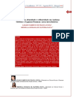 Modernidade, identidade e reflexividade em Anthony Giddens e Zygmunt Bauman