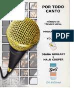 Por Todo Canto - Método Vocal (Livro)