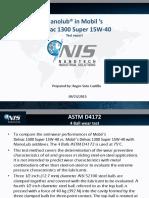 Nanolub in Mobil's Delvac 1300 Super 15W-40 Report