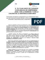 Plan Cuidados Paliativos Euskadi 2016 2020 Parlamento