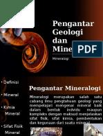 Pengantar Geologi Dan Mineralogi