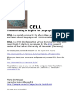 CELL Communicating in English for Language Learning