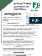 Hackett Neighbourhood Watch Newsletter - May 2010