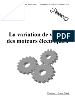 Variation de Vitesse Des Moteurs Électriques