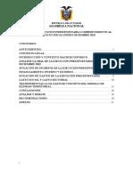 INFORME DE EJECUCIÓN PRESUPUESTARIA CORRESPONDIENTE AL EJERCICIO FISCAL ENERO DICIEMBRE 2015