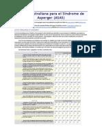 Escala Sindrome Asperger ASAS