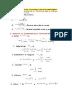 Práctica Dirigida de Matemáticas Funciones
