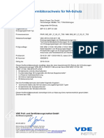 VDE-AR-N 4105 2011-08 Konformitaetsnachweis Fuer NA-Schutz