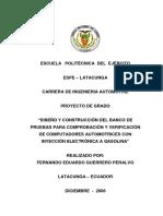 Banco de Pruebas Para Comprobacion de La Ecu Del Motor