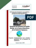 Informe Fuetes Móviles Cajamarca Parque Automotor