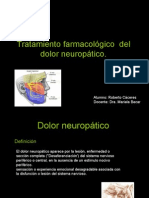 Dolor Neuropatico y Tratamiento farmacologico