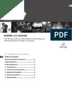 Manual Guitar Link UCG102 - Behringer