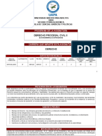 Programa de Der. Procesal Civil II.