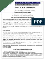 Congreso Internacional Resistencia - Cronograma