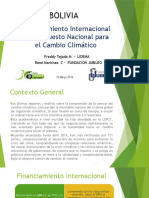 Presentación Financiamiento Cambio Climático Bolivia