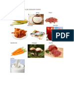 Clases de Alimentos de Consumo Diario