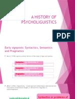 A History of Psycholiguistics