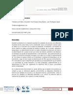Informe de Variables proceso