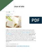Cómo Cocinar El Tofu