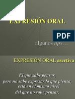 TIPS de Expresión Oral