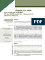 ¿Por Qué Cae La Participación de Los Salarios en El Ingreso Total en México