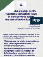 Provocări şi soluţii pentru facilitarea competiţiei loiale în transporturile rutiere din cadrul Uniunii Europene