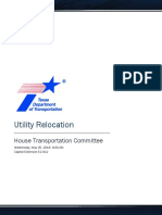 Utility Relocation Report