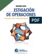 Investigación de operaciones programación lineal. Problemas de