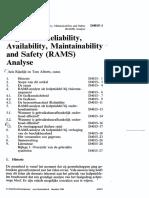 Beginselen Reliability RAMS