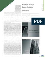Costruzioni Metalliche, Acciaio & Ricerca (Landolfo, R. 2009)