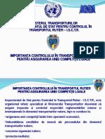 Importanţa controlului în transportul rutier pentru asigurarea unei competiţii loiale