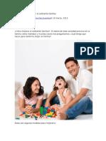 Consejos Para Mejorar El Ambiente Familiar